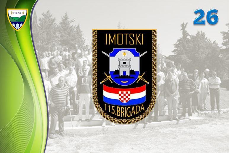 Proslava obljetnice 115. imotske brigade u vojarni na Kamenmostu.