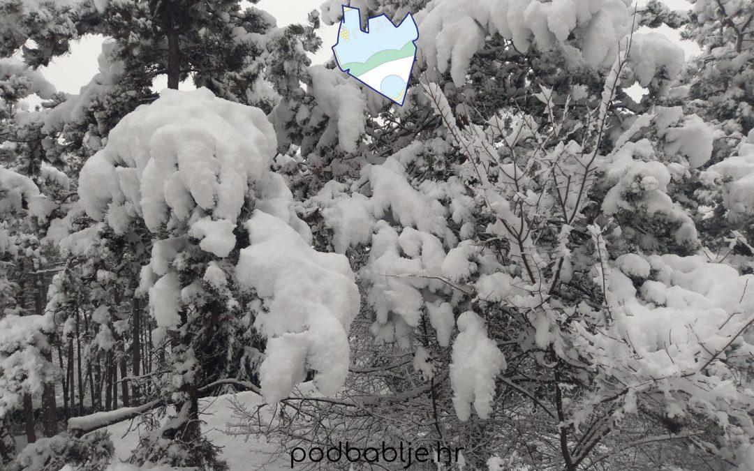 Poteškoće uzrokovane snježnim padalinama u našoj Općini