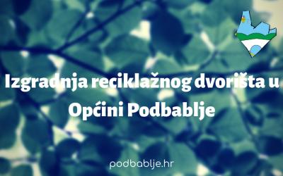 Općina Podbablje potpisala Ugovor o izgradnji reciklažnog dvorišta